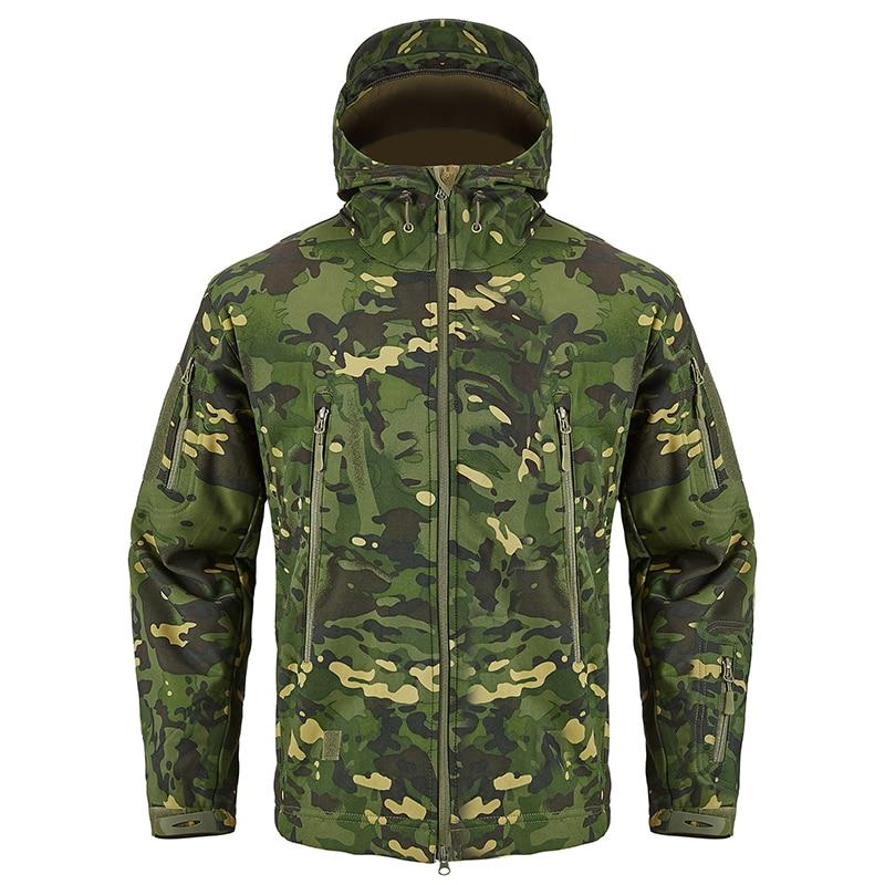 S.ARCHON Shark Skin Soft Shell Tactical Military Jacket Men Fleece Waterproof Army Clothing Multicam Camouflage Windbreakers Men 6