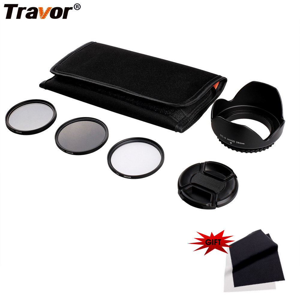 Travor Cámara filtro ND CPL UV Filtro de lente de densidad neutra 49 55 58 62 67 72 77mm kit para pentax Sony Nikon Canon