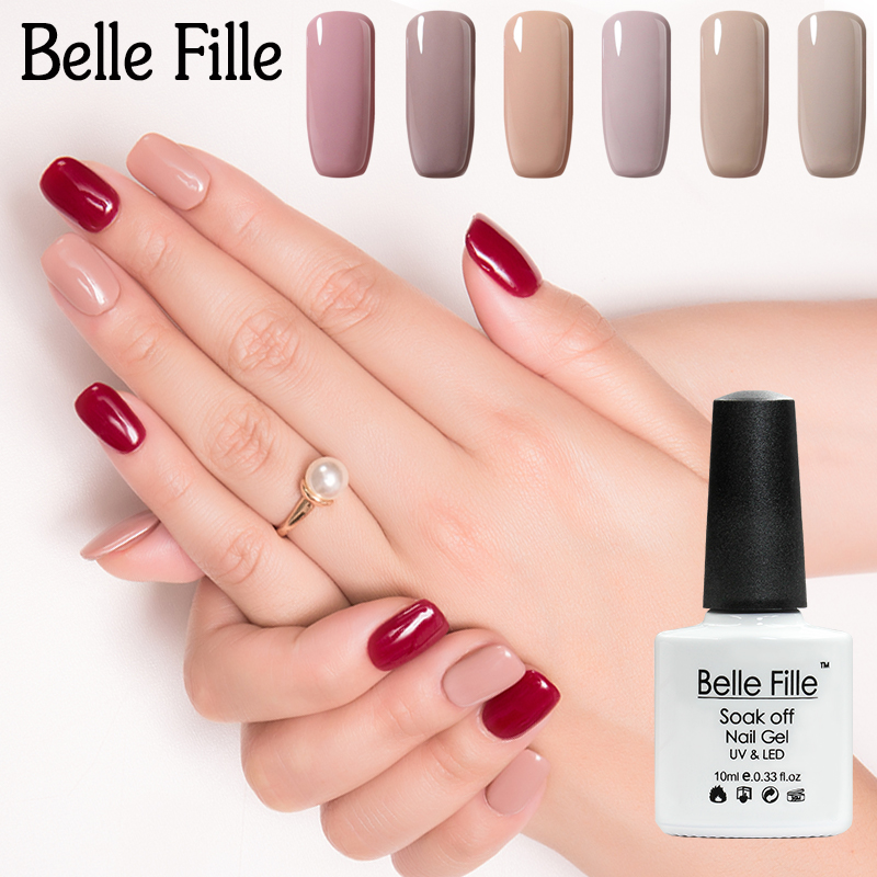 BELLE FILLE Blue Series 12 Colors UV Gel Nail Polish Soak