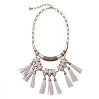 Women's Fashion Necklace Jewelry Bijoux Hyperbole Fashionable Imitation Leather Tassels Pendant Necklace Female Wholesale N950a