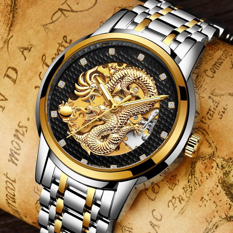 LIGE Mens Watches Top Brand Luxury Business Mens Automatic Mechanical Watch Steel Waterproof Men s Watchs