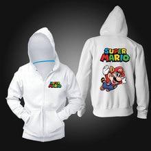 game painting super Mario men sweatshirt zipper hoodies men comfortable cotton men casual cardigan homme
