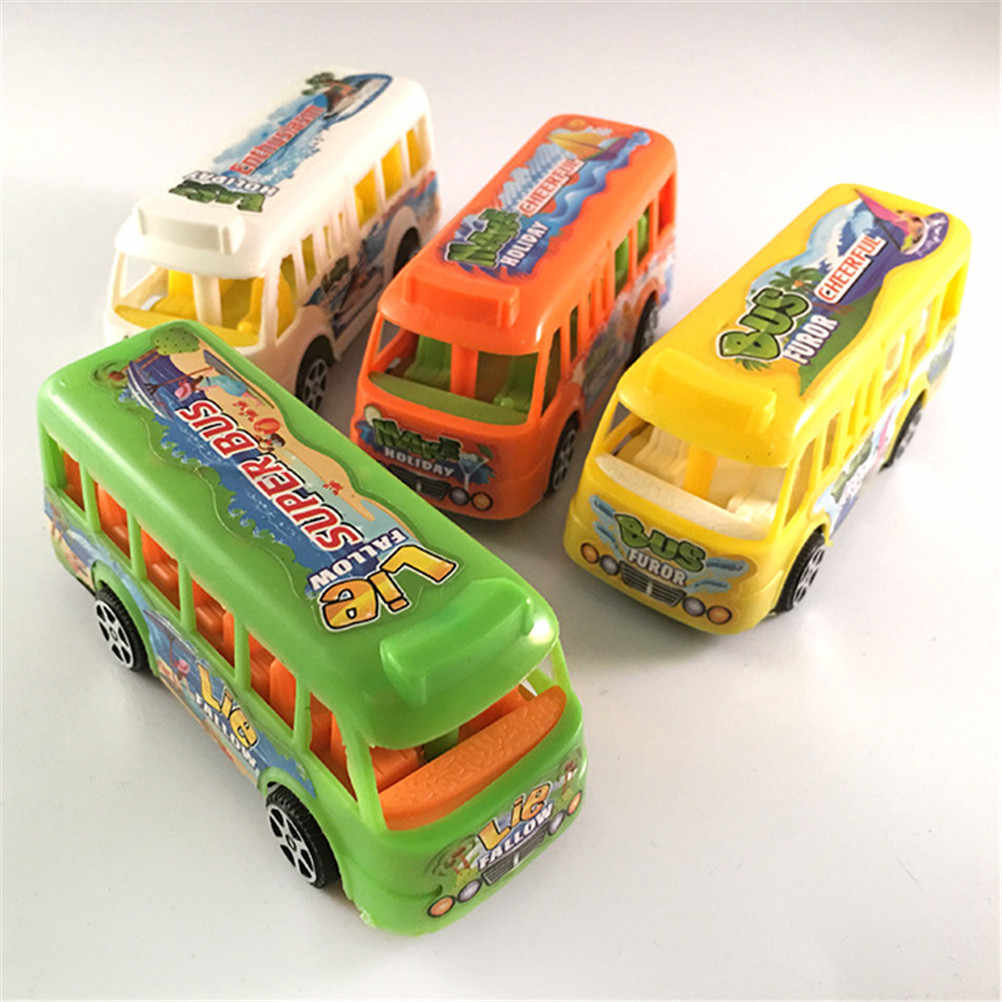 1pc Child Baby Nursery Toys Educational classic vintage toy bus Pull Back The Bus Power Toy