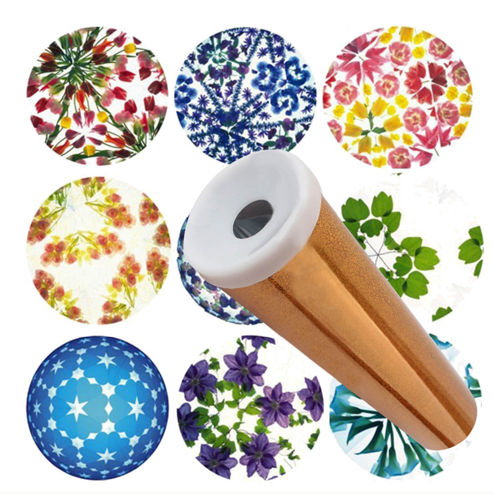 Funny DIY Kids Scalable Rotating Kaleidoscope Making Kit Educational Toy Children Gift Classic Toys Twisting Kaleidoscopes Craft