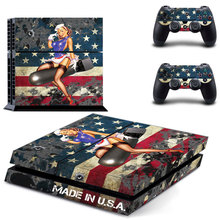 PS4 Console Designer Skin for Sony PlayStation 4 System plus Two(2) Decals for: PS4 Dualshock Controller – Battle Torn Stripes