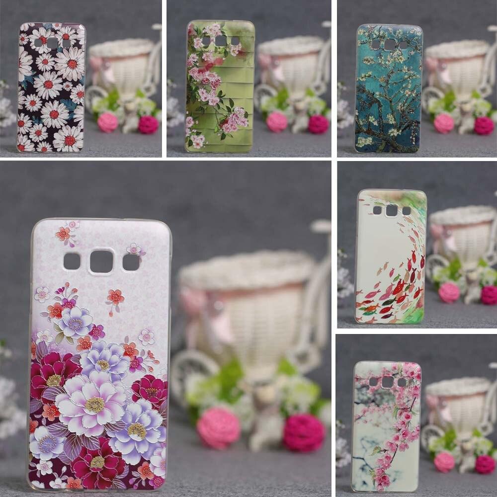Teléfono de lujo tpu soft case para samsung galaxy a3 2015 case a300 a3000 de si