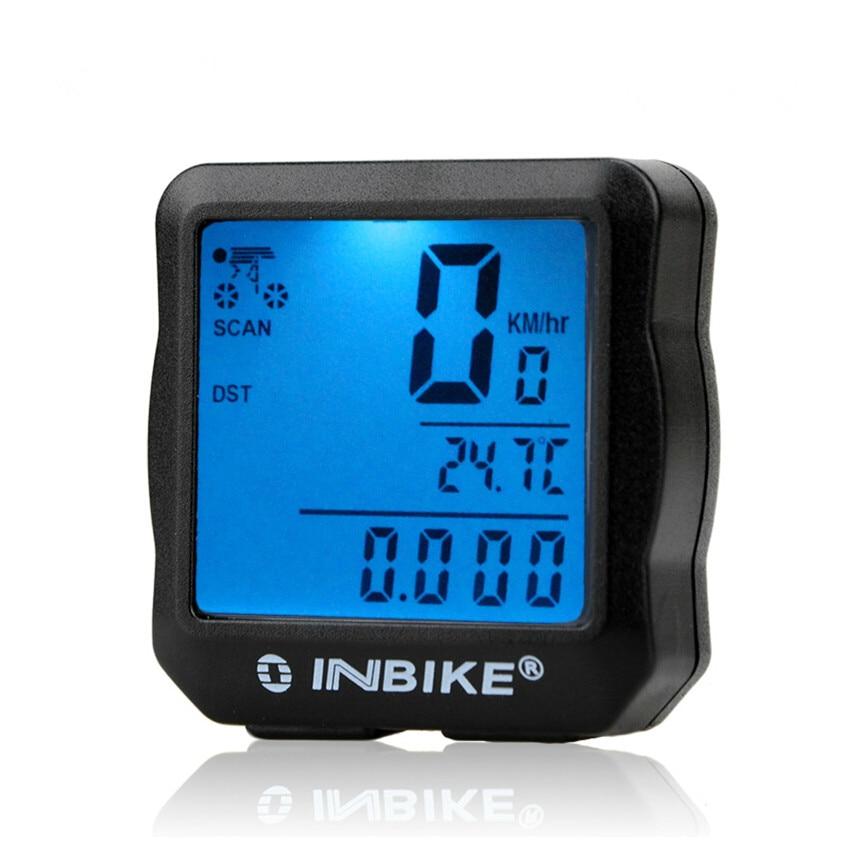 INBIKE Bike Bicycle Speedometer Bicycle Computer Digital Backlight Waterproof Odometer Clock Stopwatch Computer Bike Accessories