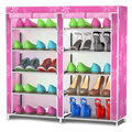 FREE shipping 5 Tier X2  Oxford cloth Homestyle Shoe Cabinet Shoes Racks Storage Large Capacity Home Furniture Diy Simple