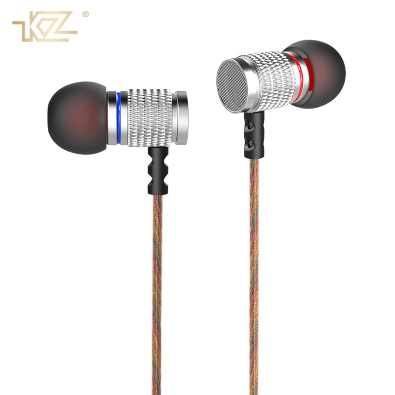 KZ Metal Wired Earphone Music HiFi In-Ear Headset 3.5mm Clear Super Bass Sound Earbuds With Mic for IPhone Xiaomi Fone De Ouvido langsdom a10 super bass in ear earphone hifi music earplugs metal headset with mic general for phone iphone xiaomi sony pc mp3