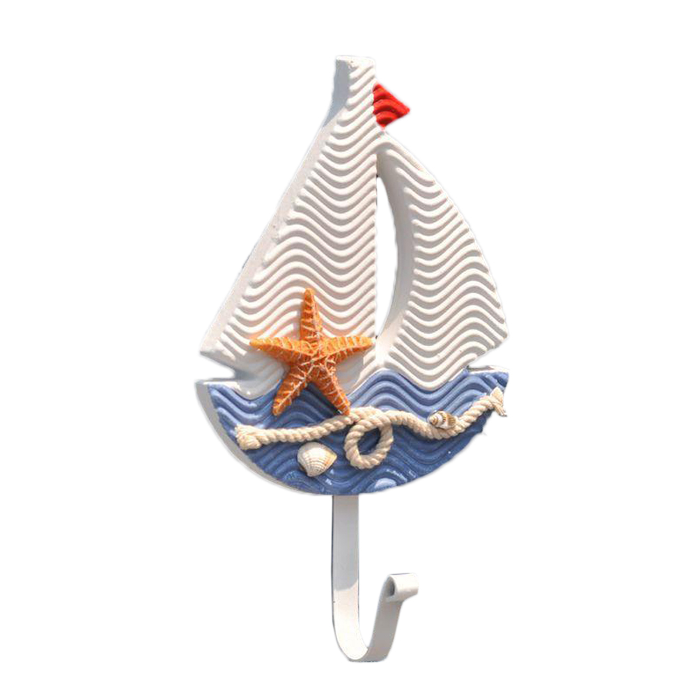 1PC Hook Sailboat Hanging Hook Hanger Clothes Hook Hat Hook for Home Office(China)