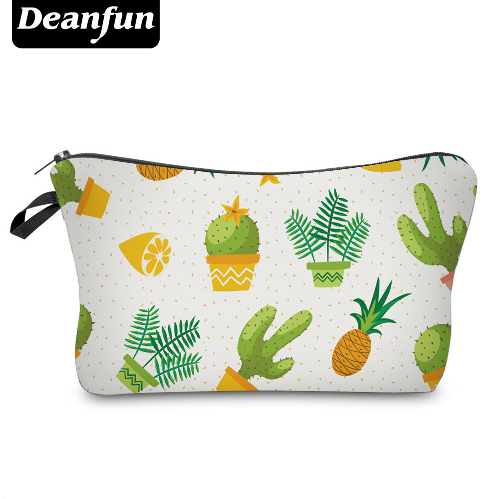 Deanfun Women Cosmetic Bags 3D Printing Fresh Style for Summer Makeup Organizer 50992