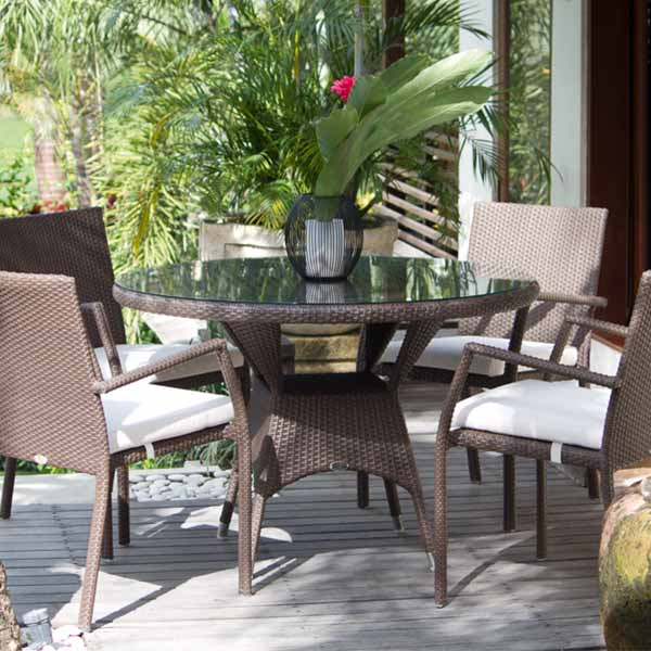 2017 High End Furniture French Style Resin Rattan Luxury Dining Room  Sets(China (Mainland