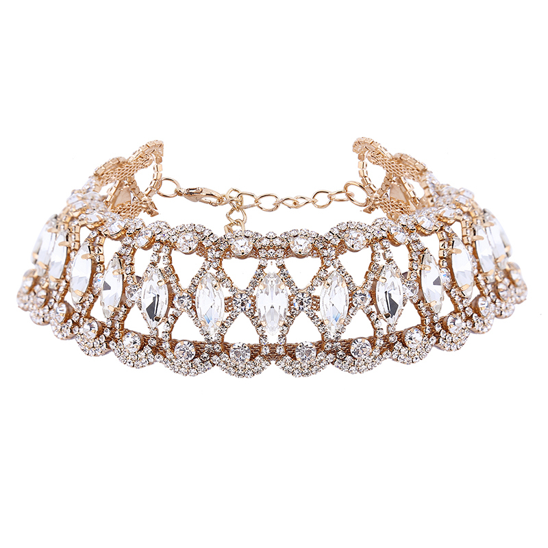 StoneFans Brand Rhinestone Choker Necklace Fashion Jewelry Flower Charm Sexy Party Crystal Necklaces Chocker For Women Collier-in Choker Necklaces from Jewelry & Accessories on Aliexpress.com | Alibaba Group