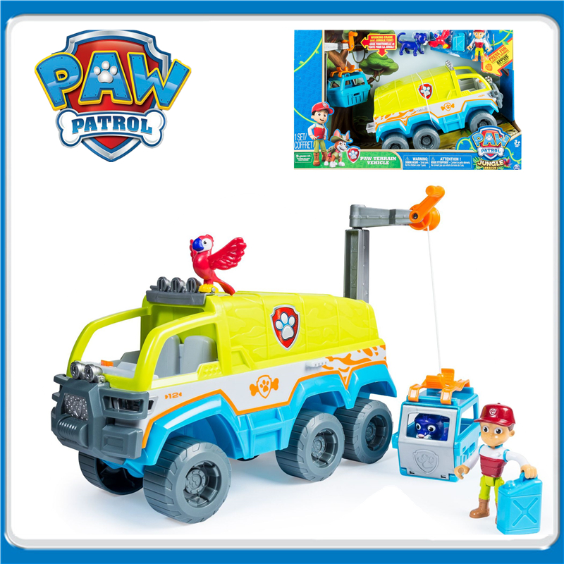 Genuine New Paw Patrol Dogs Jungle Off-road Vehicle Rescue Base Set Action  Figure Model Patrulla Canina Juguete Toys Kids Gift