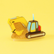 Children's Birthday Party Decoration Creative Birthday Candle Boys Hundred Days Old Excavator Small Gifts Candles Decoration