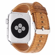 Luxury Crazy Horse Vintage Genuine Leather Strap For Apple Watch 1 2 3