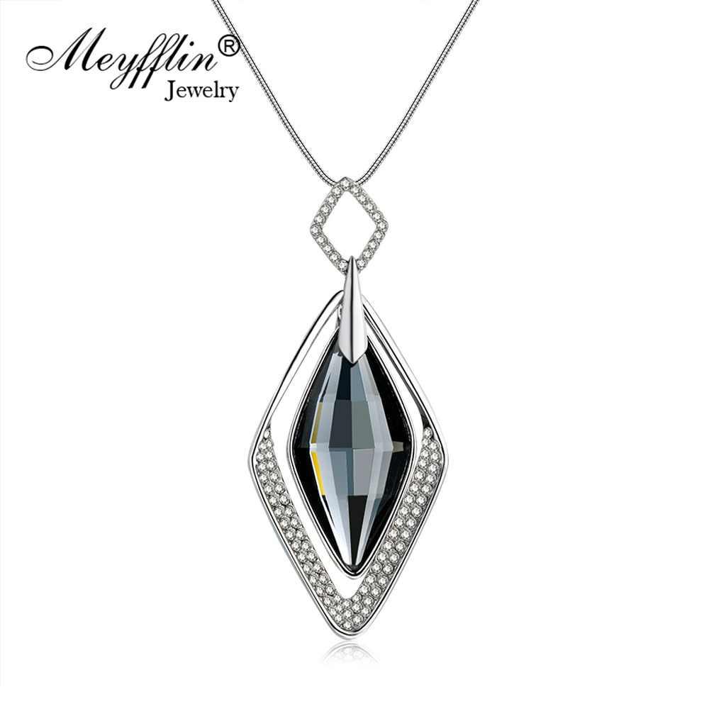 677ccef30eb3 Meyfflin mucho collares y colgantes para las mujeres Collier Femme  declaración geométrica Colar Maxi joyas de