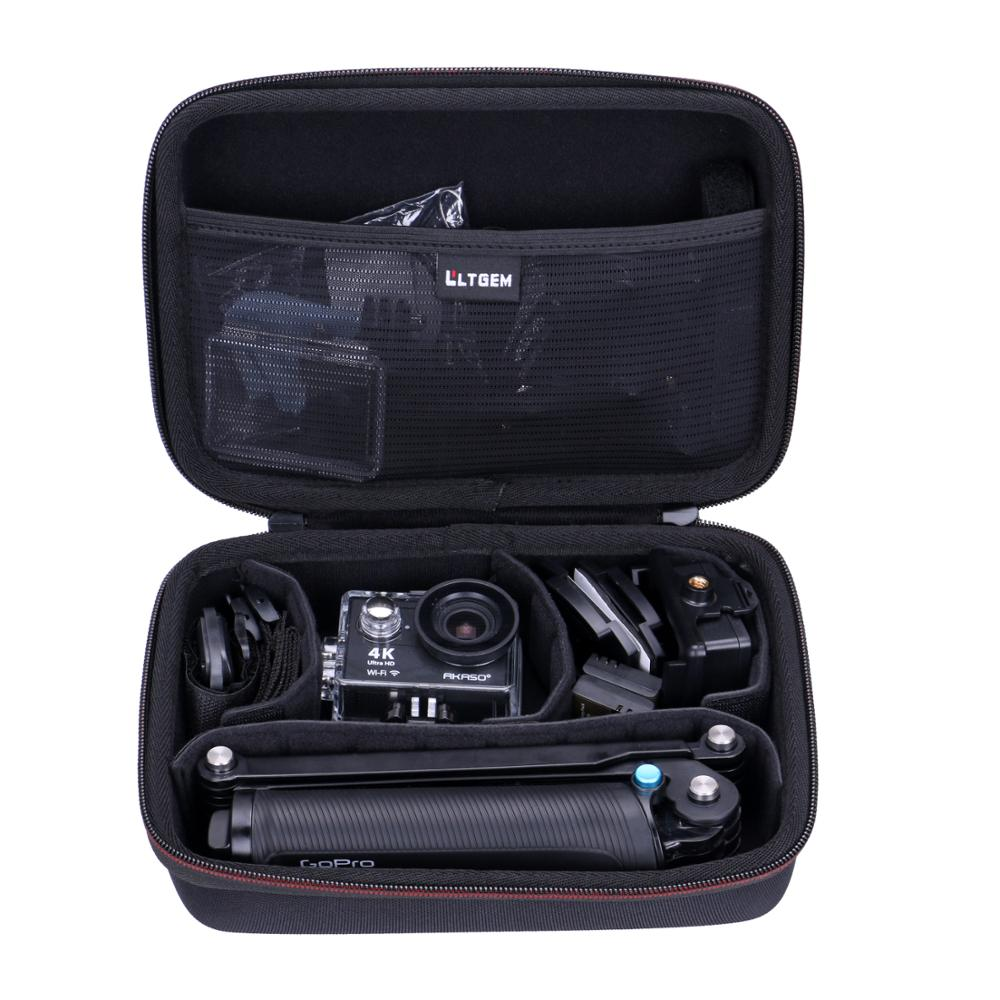 LTGEM EVA Shockproof Carrying Hard Case For AKASO EK7000 4K Wifi Sports Action Camera Ultra HD Waterproof DV Camcorder