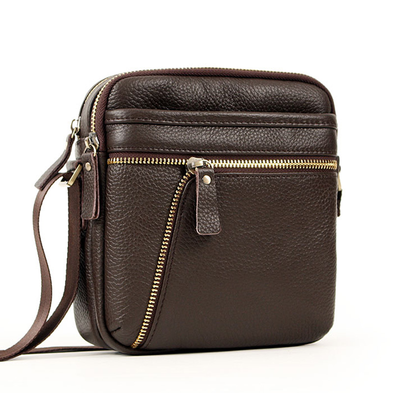 100% Genuine leather messenger bags for men casual business shoulder bags male cowhide bags small man bags handbags
