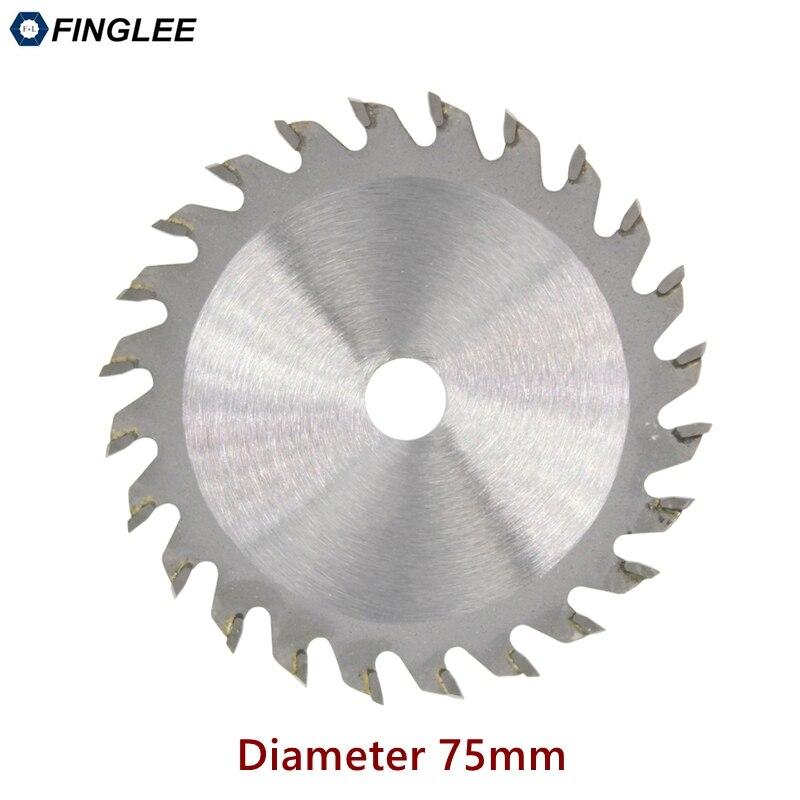 FINGLEE Circular-Saw-Blade TCT Acrylic Plastic 75mm Woodworking Mini 1pc For General-Purpose