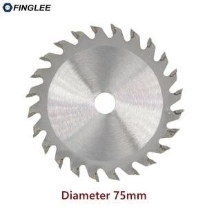 Image 1 - فينغلي 1 قطعة 75 مللي متر TCT النجارة شفرة منشار دائري صغير الاكريليك البلاستيك شفرة قاطعة للأغراض العامة للخشب