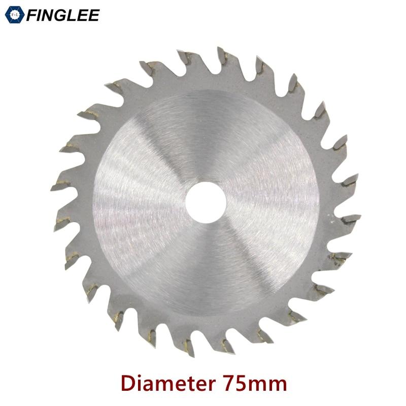 FINGLEE 1Pc 75mm TCT Woodworking Mini Circular Saw Blade Acrylic Plastic Cutting Blade General Purpose For Wood