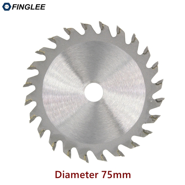 FINGLEE 1Pc 75mm TCT Woodworking Mini Circular Saw Blade Acrylic Plastic Cutting Blade General Purpose for Wood