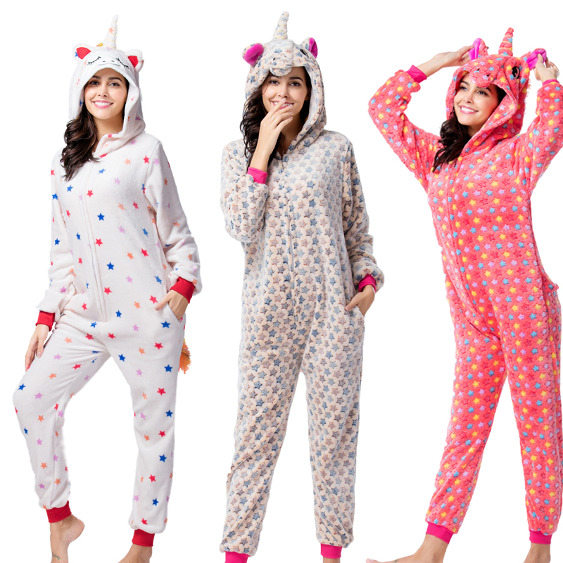 Adults Animal   Pajamas     Sets   Stitch Unicorn Pikachu Onesie Cartoon Sleepwear Cosplay Women Men Winter Unisex Flannel Panda   Pajamas