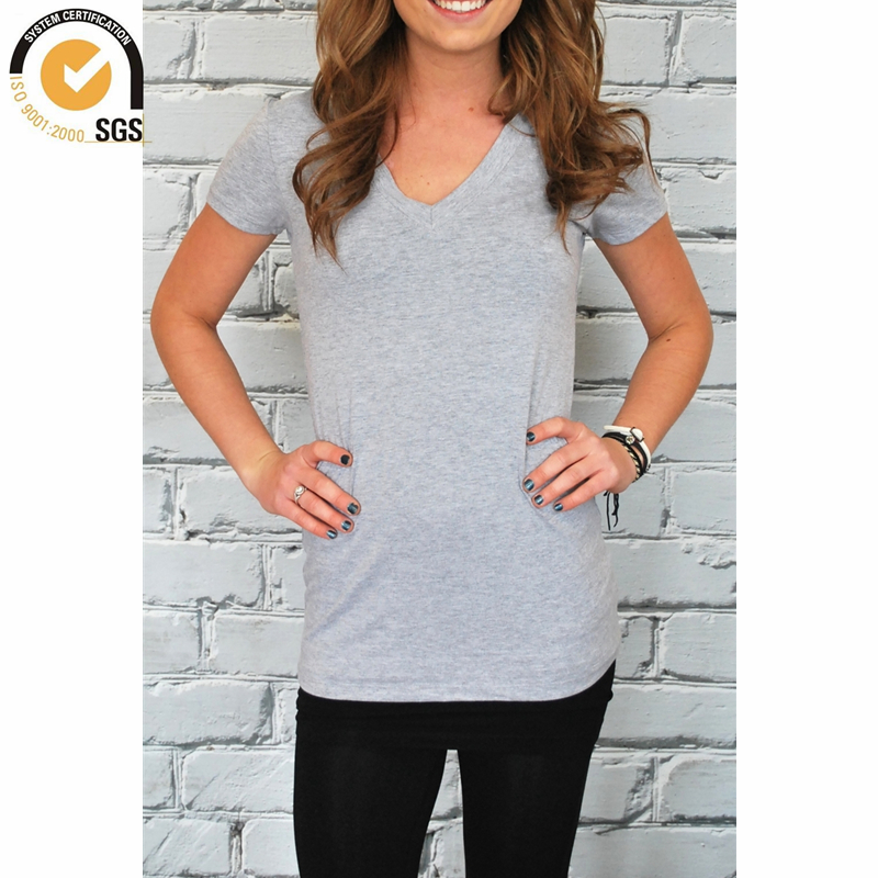T shirts extra long women tees v neck short sleeve lady t for Short sleeve t shirts with longer sleeves