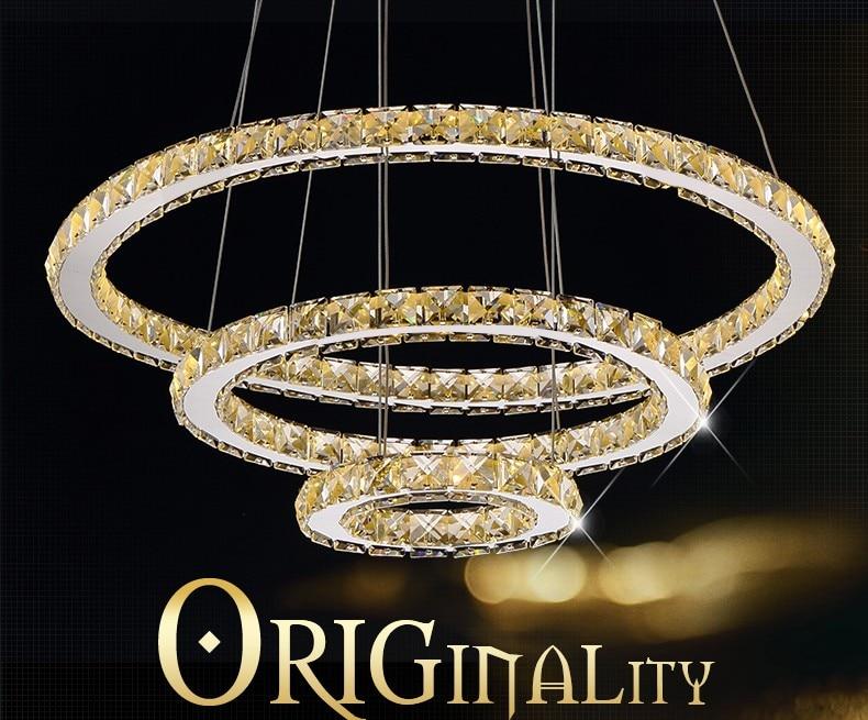 Plafoniere Moderne Cu Led : Moderne kronleuchter led kristall ring
