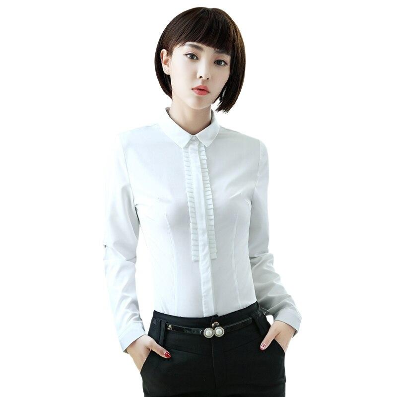 6b7b3720c50 New fashion Career women clothes slim shirt OL formal long sleeve chiffon blouses  office ladies plus size work wear tops white
