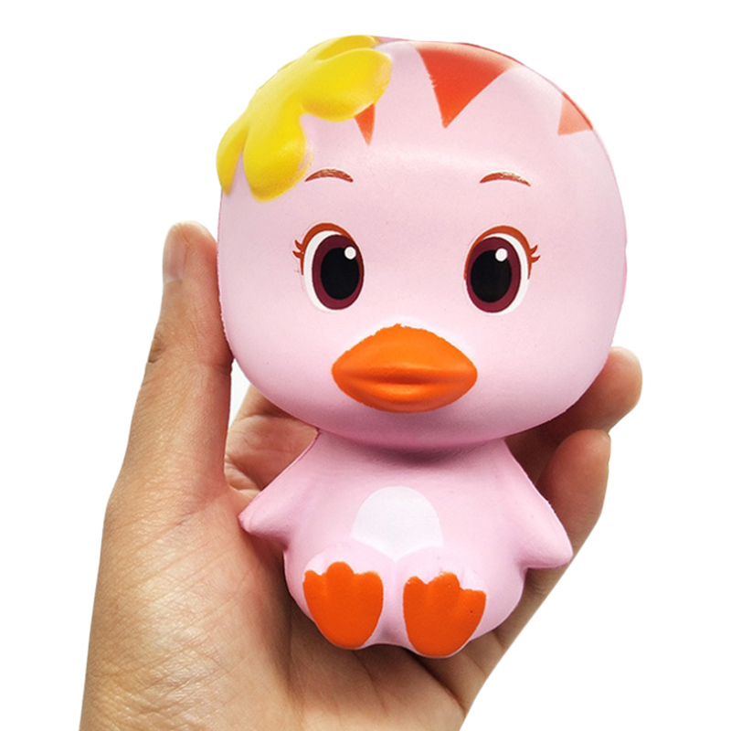 Jumbo Duck Squishy Kawaii Simulation Animal Soft Slow Rising Bread Cake Scented Stress Relief Squeeze Toy For Kid Birthday Gift