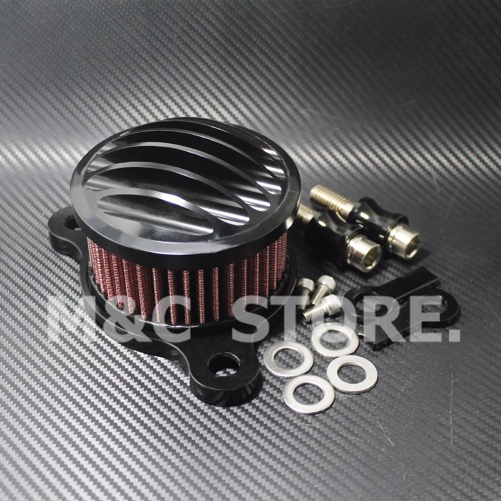 Мотоцикл воздухоочиститель Впускной фильтр Система чехол подходит для Harley Sportster XL883/1200 04'-UP воздушный фильтр