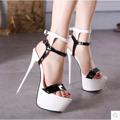Fashion Summer Women High Heels Sandals 16cm Sexy Stripper Shoes Party  Pumps Shoes Women Gladiator Platform Sandals Size 35 46-in High Heels from  Shoes on ... aa1edb96fd0e