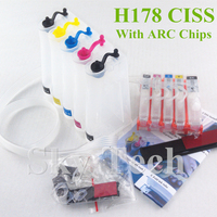5 Colro Empty CISS For HP178XL , HP 178 CISS For HP B8550 B8553 B8558 C5300 C5324 C5370 C5373 C5380 D7560 etc , With ARC Chips