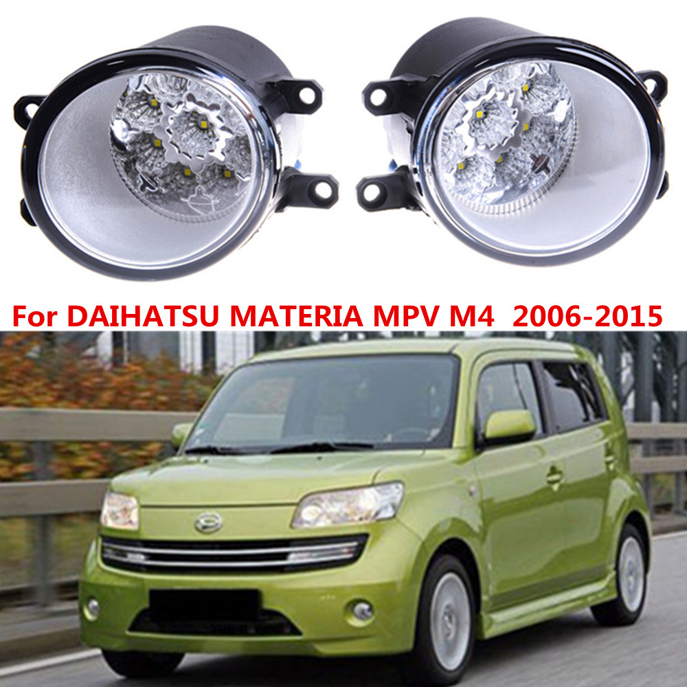 For DAIHATSU MATERIA MPV M4  2006-2015 Car styling front bumper LED fog Lights high brightness fog lamps 1set for lexus rx gyl1 ggl15 agl10 450h awd 350 awd 2008 2013 car styling led fog lights high brightness fog lamps 1set