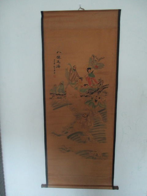 US $37 5 25% OFF|Home wall decoration painting ,Chinese old paper scroll  painting Tang bo hu