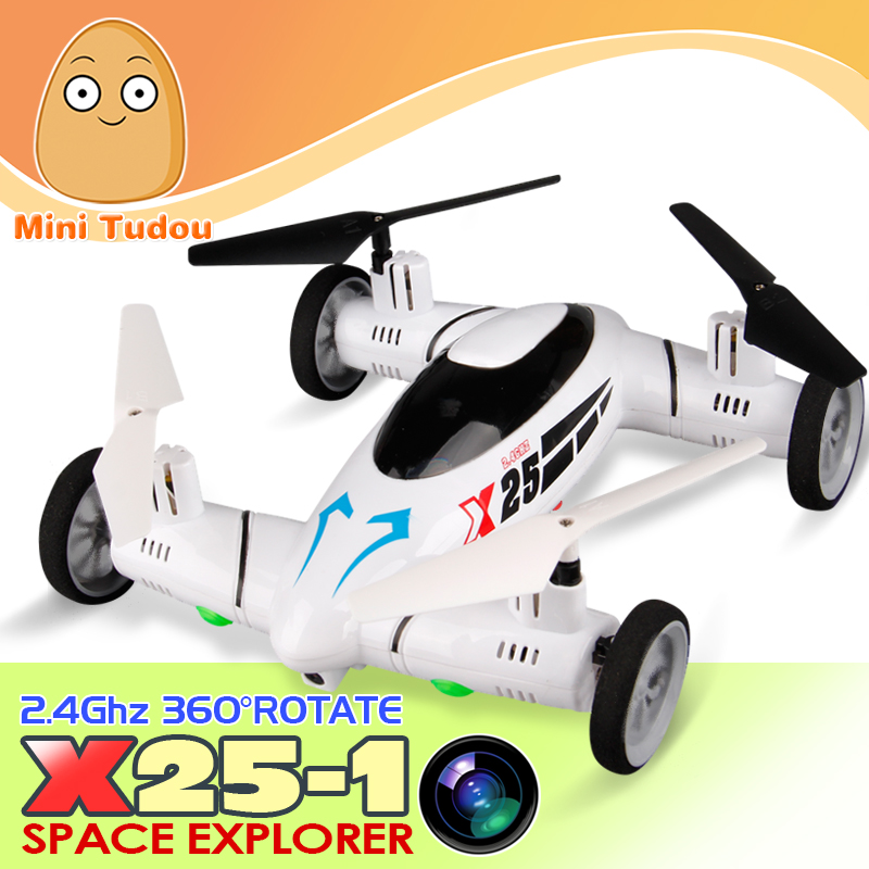 X25 1 2IN1 RC Drone HD Flying Car Quadrocopter On Radio Control 8Channel 2 4Ghz Aai
