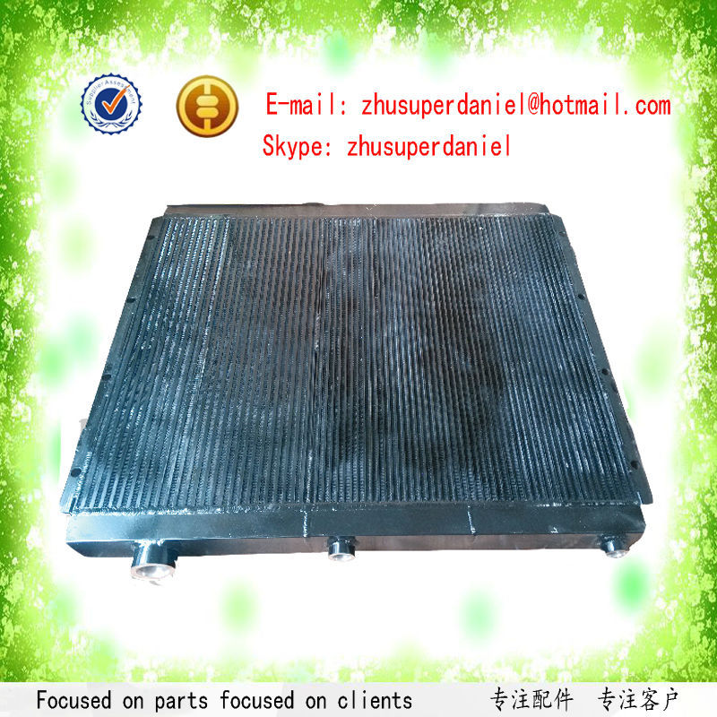 цены WJIER oil free air compressor plate fin aluminum radiator oil cooler air cooler air cooled 1092050408