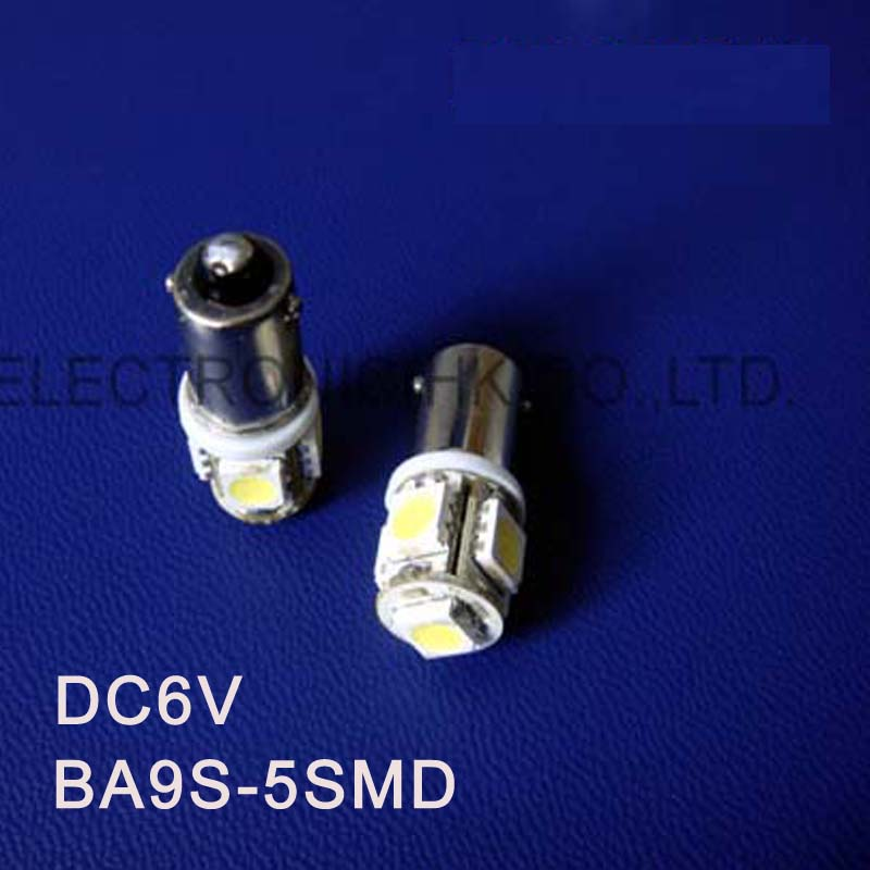 High quality DC6.3V 6V BA9S Led Warning Signal,Indicating Lamp,Pilot lamp,Instrument Light,pinballs Bulbs free shipping 5pcs/lot image