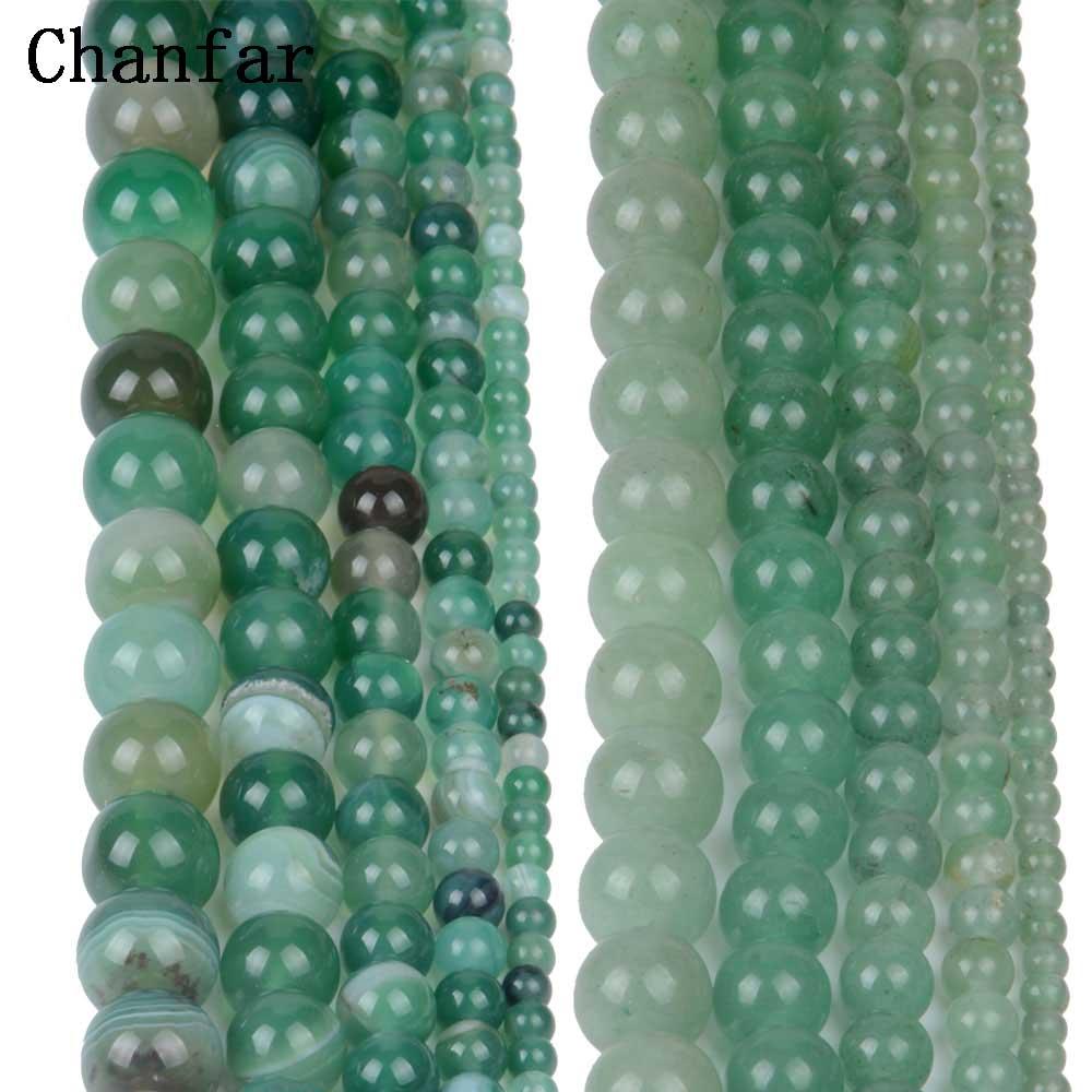 Banded Green Stone Aventurine Beads Women Jewelry DIY Fashion Making Beads 4 6 8 10 12mm