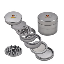 HONEYPUFF Aircraft Aluminum Herb Grinder 63MM with Removable Diamond Teeth Scree