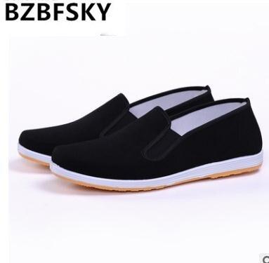 b98328e9a5dd9 Chaussures en coton noir de qualité supérieure Bruce Lee Vintage chinois  Kung Fu chaussures aile Chun Tai Chi pantoufle Art Martial chaussures en  pur coton ...