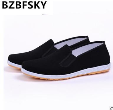 Top Quality Black Cotton Shoes Bruce Lee Vintage Chinese Kung Fu shoes Wing Chun Tai Chi Slipper Martial Art Pure Cotton Shoes