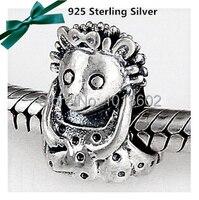 1:1 עותק חוקי קיפוד קסם כסף סטרלינג 925 מתגעגע accessorie חרוזים fit לאופנת צמיד ושרשרת 1 יח'\חבילה VK2754