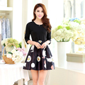 new arrivals women dress 2016 fashion long-sleeve print dresses slim female fashion high quality winter dress