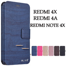 hot deal buy for xiaomi redmi 4x 4a case cover wallet pu leather phone case for xiaomi redmi note 4x case flip back case luxury 4 x a para