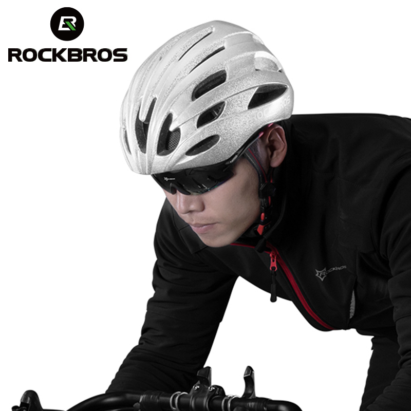 ROCKBROS Reflective Bicycle Helmets Cycling Super Bright Safety Helmet Rode MTB Bike Night Reflective Layer Helmet For Men Women