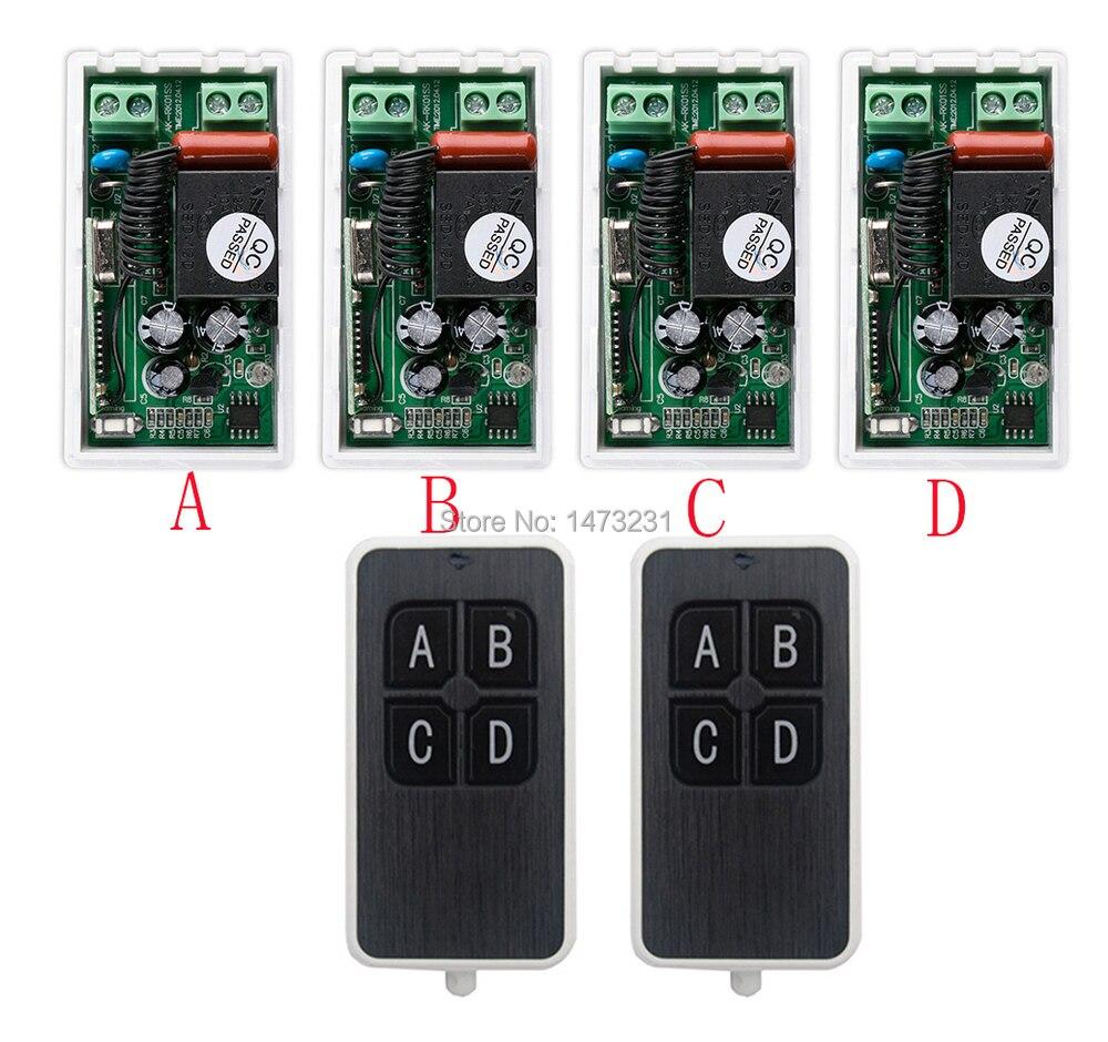Más simple cableado AC220V 1CH 10A interruptor de control remoto inalámbrico sis