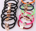 fashion wholesale bracelet rubber band hair ring elastic hair bands beautiful hair accessories 10pcs/lot